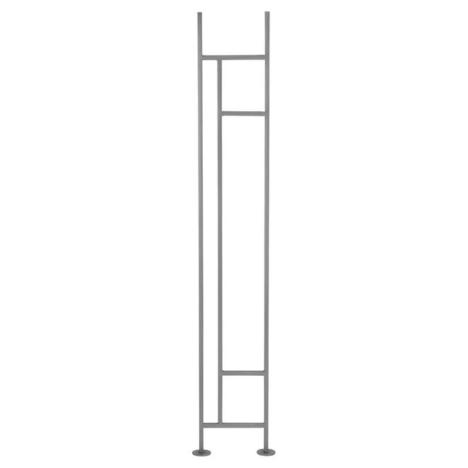Panneau de rampe en fer forgé « Zen », horizontal