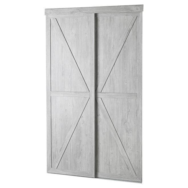 "Countryside Sliding Door - 60"" x 80 1/2"" - Beach Wood"