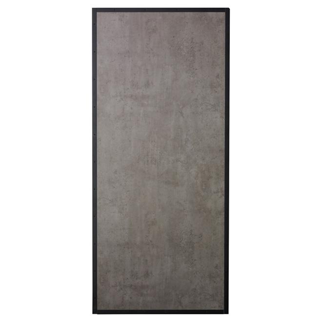 Porte pour système de rail, Colonial Elegance, 37 po x 84 po, gris béton