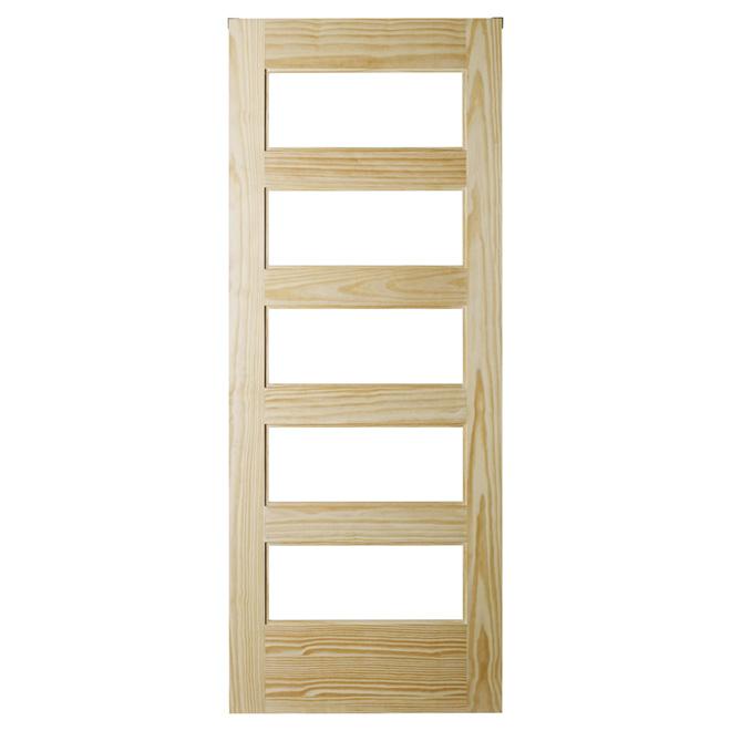 Closet Door - 5-Lite - 37'' x 84'' - Natural