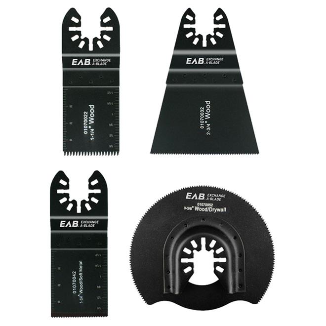 Lames pour outil oscillant multifonctionnel, 4 pièces