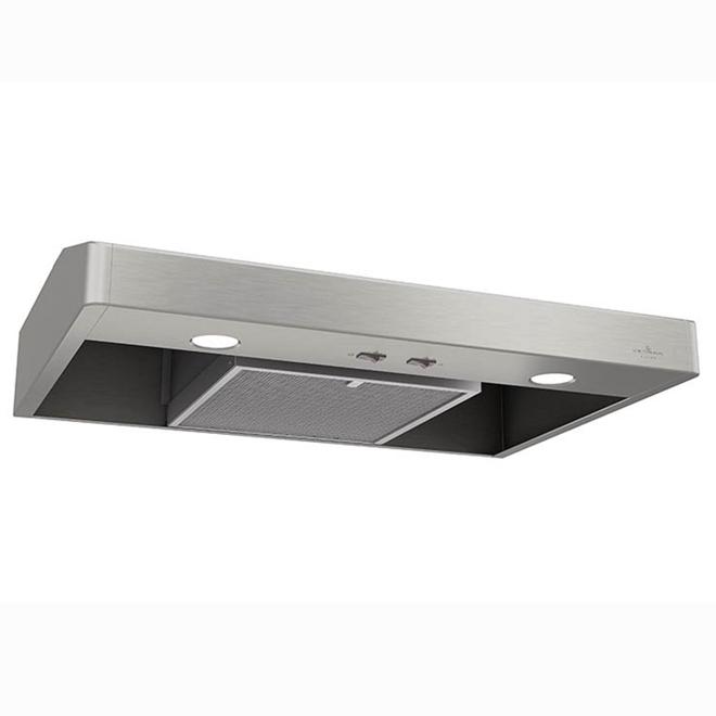 "Undercabinet Range Hood 30"" -250 CFM - Stainless Steel"