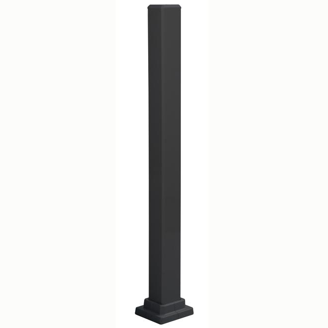 Mounting Post in Aluminum - 43 1/2'' - Black
