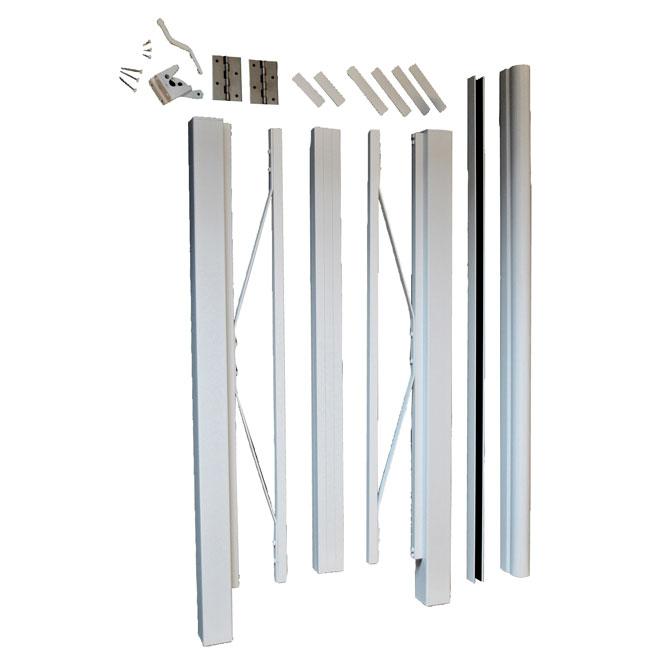 """Aluminum Gate - 42"""" x 48"""" - White"""