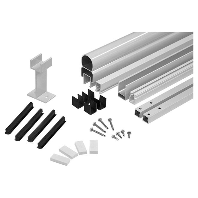 """Ensemble de structure de rampe en aluminium, 42 x 72"""", blanc"""