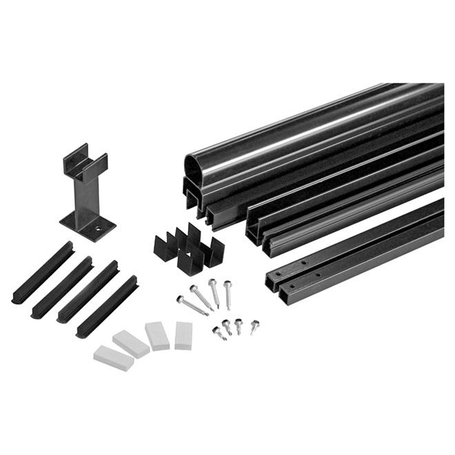 """Ensemble de structure de rampe en aluminium, 42"""" x 72"""", noir"""