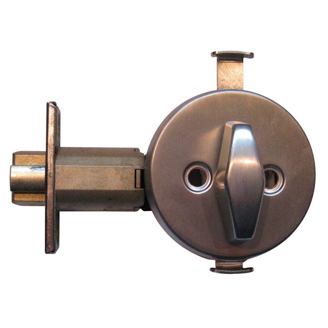 Deadbolt Lock - Spring-Loaded T-Turn - Brass - Satin Chrome