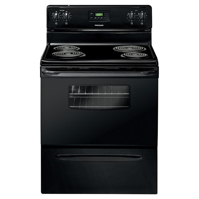 Cuisinière électrique autoportante, 4,8 pi³, noir