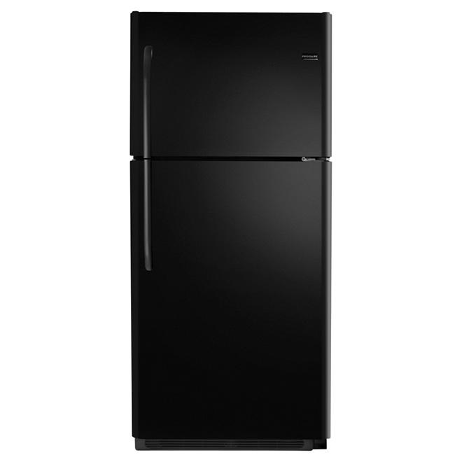 """Réfrigérateur à congélateur supérieur, 30"""", 20,4 pi³, noir"""