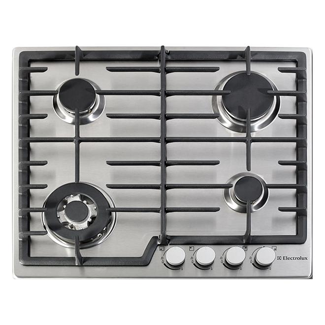 """Table de cuisson à gaz, encastrée, 24"""", acier inoxydable"""