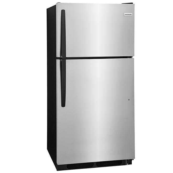 """Réfrigérateur à congélateur en haut, 28"""", 14,6 pi³, inox"""