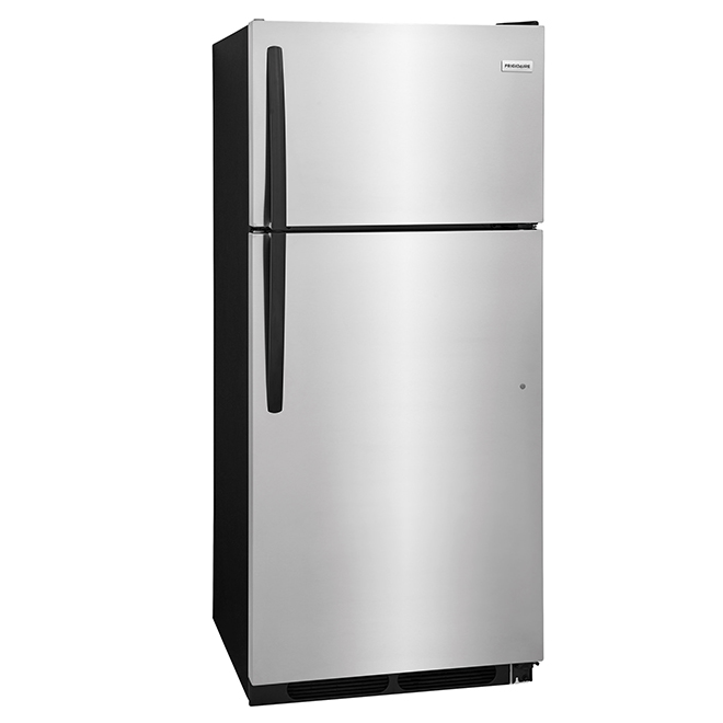 """Réfrigérateur à congélateur en haut, 28"""", 16,3 pi³, inox"""