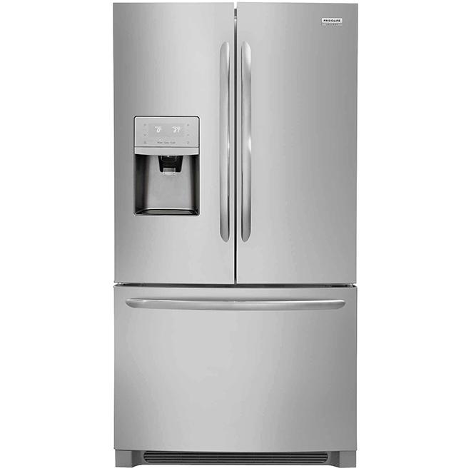 Réfrigérateur à portes françaises, 28 pi³, acier inoxydable