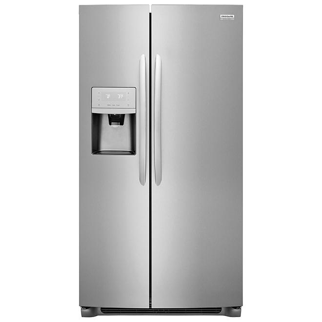 Réfrigérateur avec portes côte-à-côte, 22 pi³, acier inoxydable