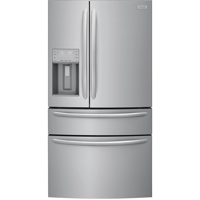 in Stainless Steel ft Total Capacity French Door Refrigerator with 21.8 cu
