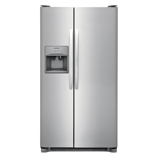 "Réfrigérateur côte-à-côte Frigidaire(MD), 36"", 25,5 pi³, inox"