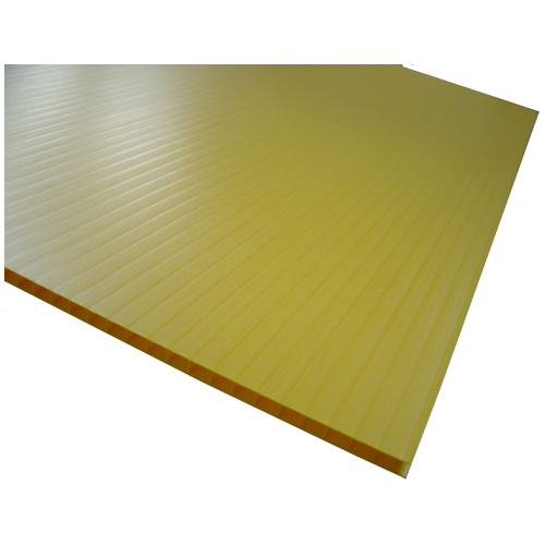 Feuille ondulée Hi-Core(MD), 48 po x 96 po, jaune