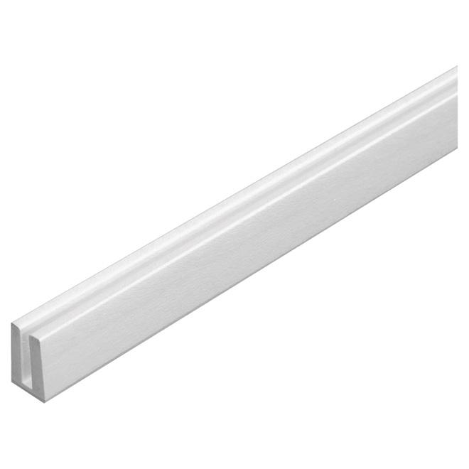 Moulure pour treillis en PCV 3/4 po x 1/4 po x 8 pi, blanc