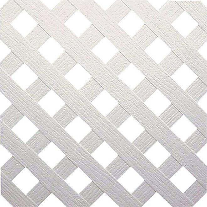 Treillis «Intimité» en PVC blanc