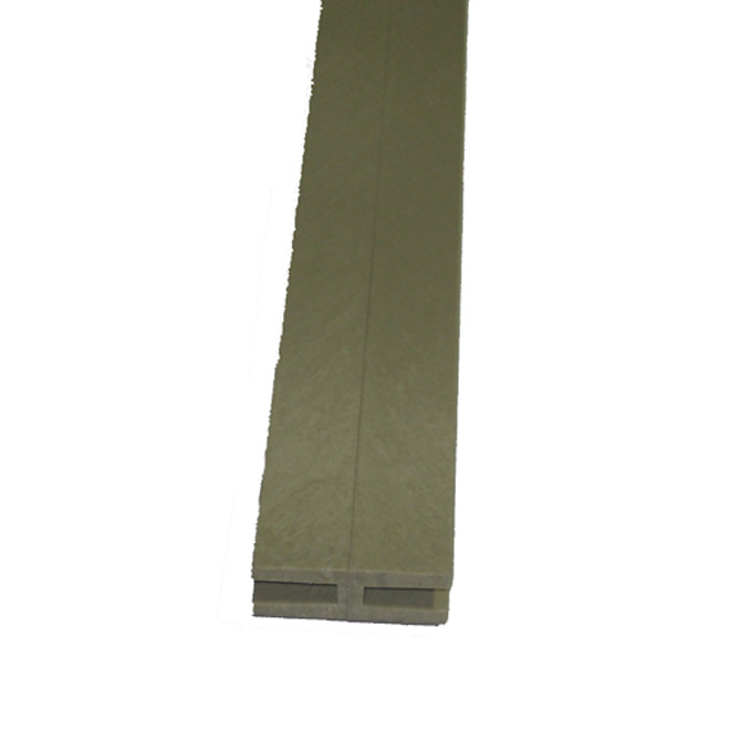 "Lattice PVC ""H"" Moulding 3/4"" x 2 1/4"" x 8' -Khaki"