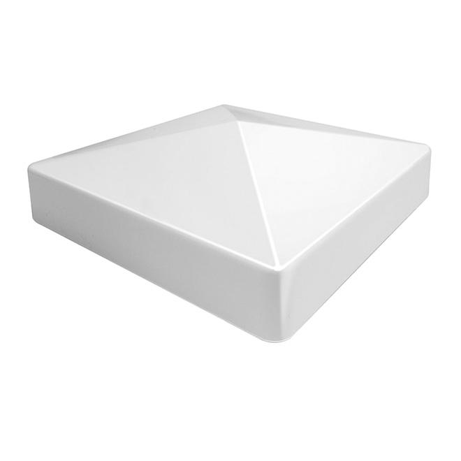 Capuchon de poteau en PCV « Pyramid », 5 x 5 po