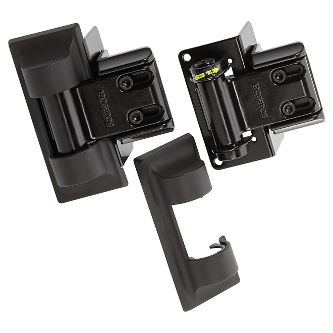 Fence Gate Standard Hinges - Black - 2-Pack