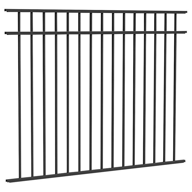 """Panneau de clôture, 54 1/8"""" x 71 5/8"""", noir mat"""