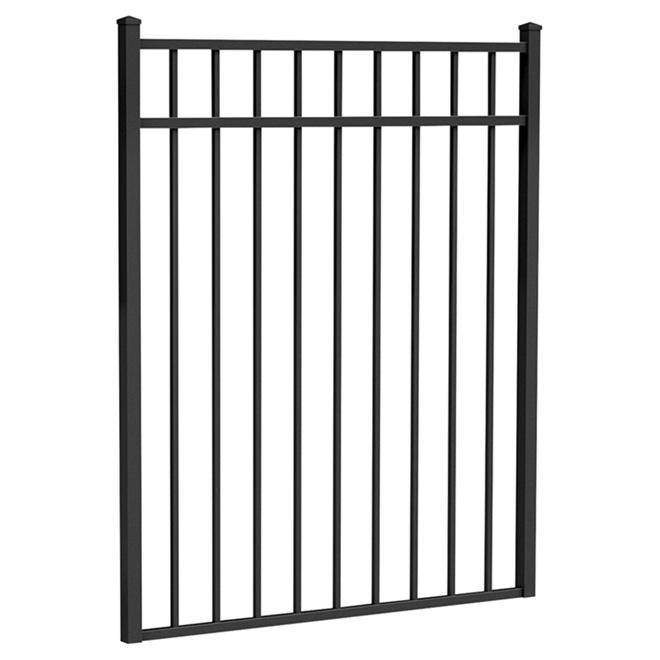 """Barrière droite, 56,5"""" x 48"""", noir mat"""