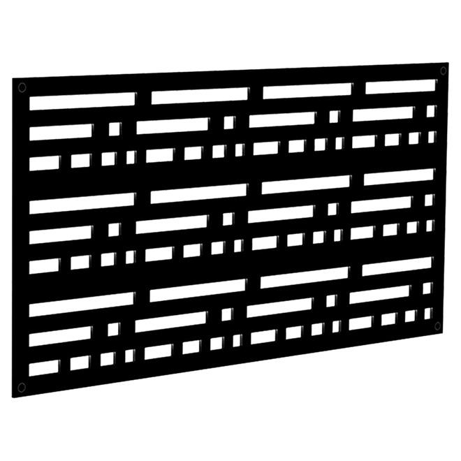 Panneau décoratif Morse, intérieur/extérieur, 2' x 4', noir