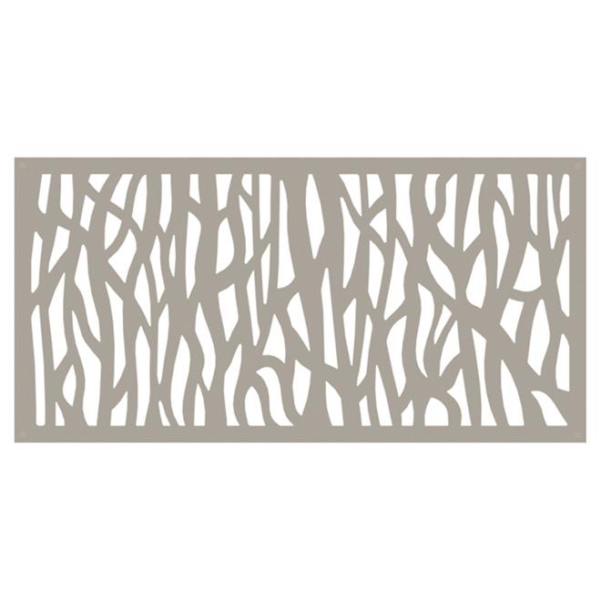 Sprig Outdoor Decorative Panel - 2' x 4' - HDP - Clay