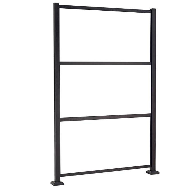 """Structure pour panneaux décoratifs, 53,25"""" x 77,75''', noir"""