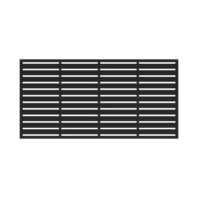 """Panneau décoratif Barrette, Boardwalk, 34""""x68""""x0,03"""", noir"""