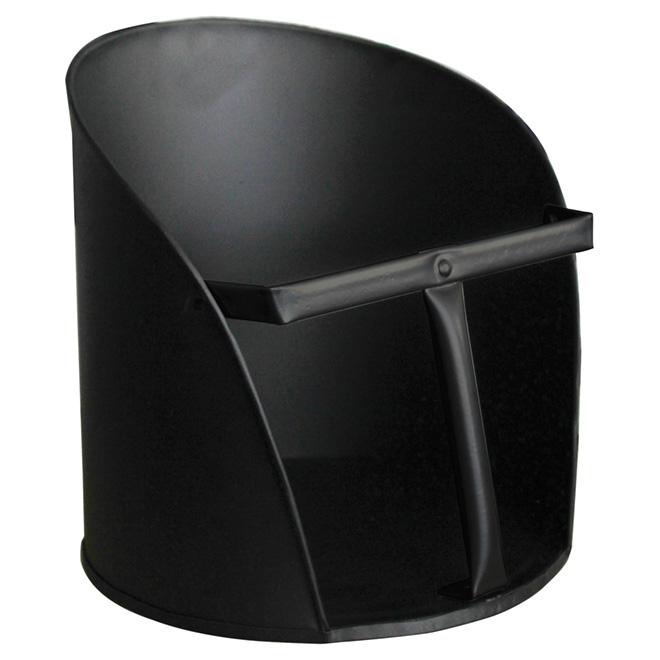 Pelle pour granules de bois, acier noir, 22 cm