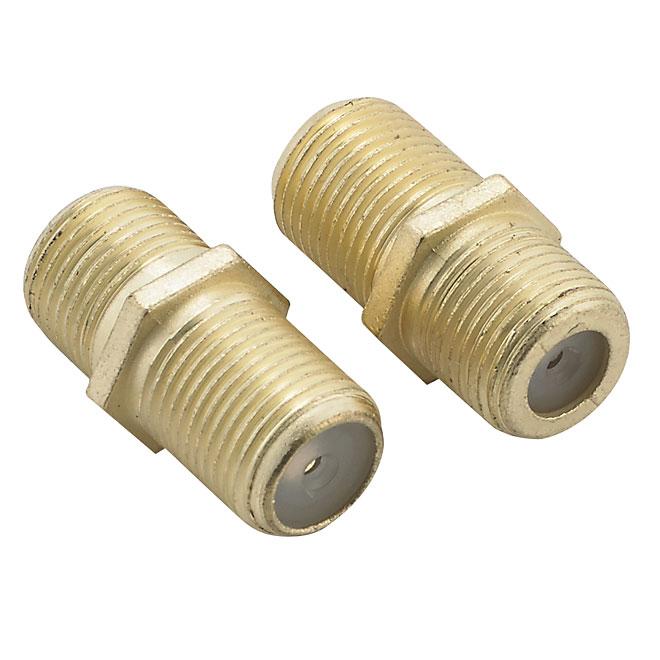 Connecteur en ligne pour câble coaxial, paquet de 2