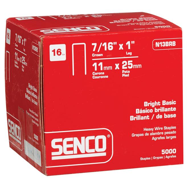 "Staples - Sencote - 16GA - 7/16"" Crown - 1"" - 5000/Box"