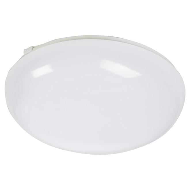 """Plafonnier rond, DEL 20 W, 11"""", blanc"""