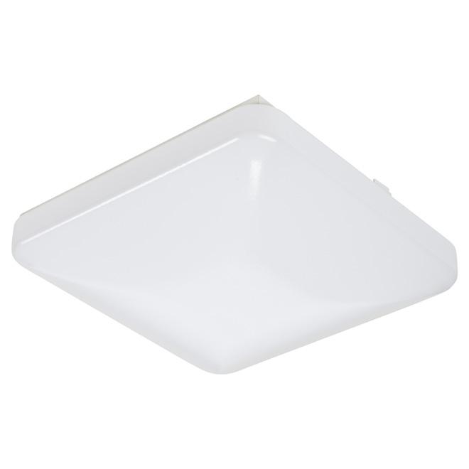 "Plafonnier carré, DEL 20 W, 12"", blanc"