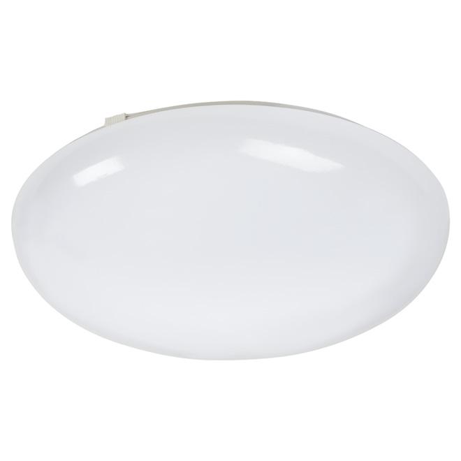 """Plafonnier rond, DEL 30 W, 14"""", blanc"""