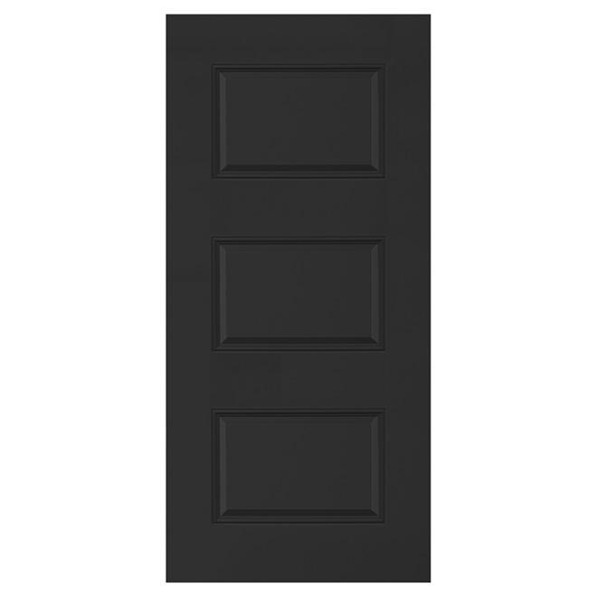 Stanley porte 3 panneaux en acier 34 39 39 x 80 39 39 x 7 1 4 39 39 noir r no d p t for Porte exterieur noir