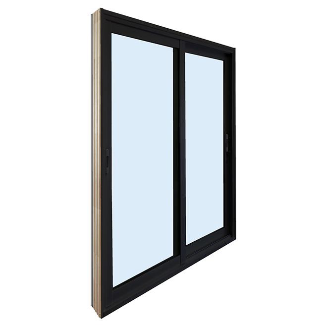 Vinyl Sliding Patio Door - 6' - Black