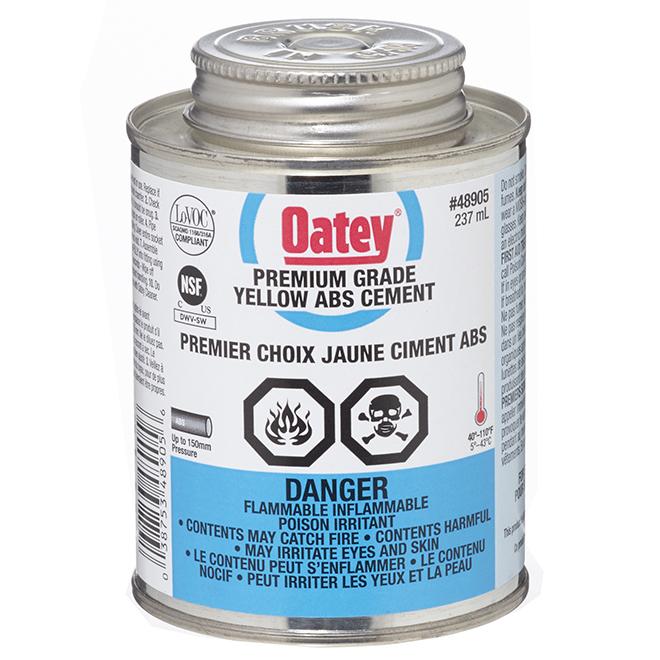 Ciment pour ABS adhérence moyenne, jaune, 237 ml