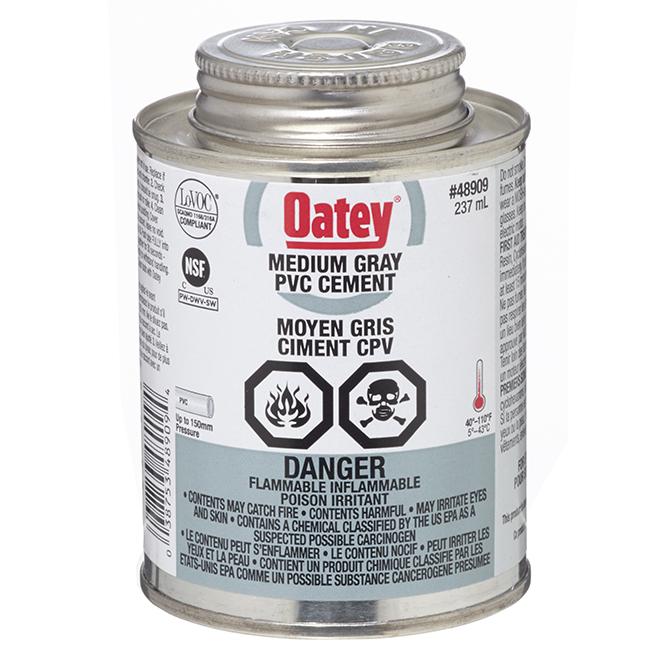 OATEY PVC Cement - Medium-Bodied - Grey - 237 mL 48909 | Réno-Dépôt