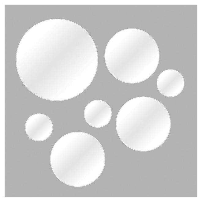 Set of 7 Round Mirrors - Various Size