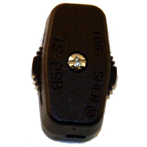 Interrupteur en-ligne unipolaire rotatif, brun