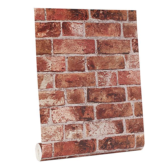 "Wallpaper- Brick Look - 20.5"" x 33' - Red"