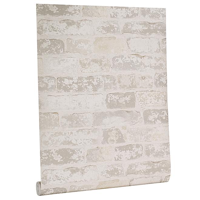 Weathered Brick Wallpaper - 33' - Gray