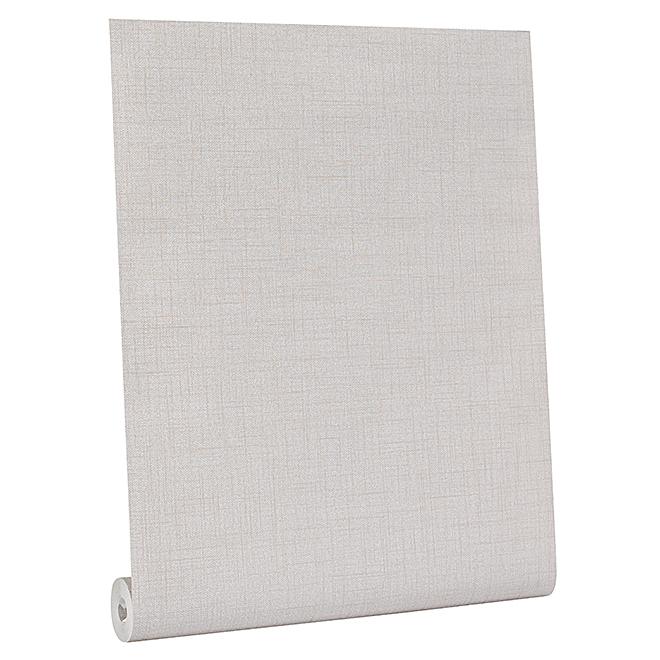 Papier peint texturé, 56 pi², beige