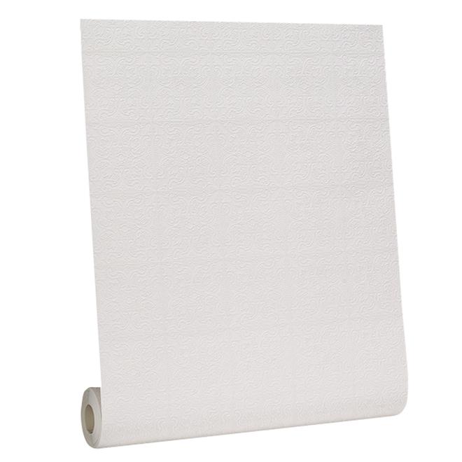 Papier peint, aspect de plafond, 56 pi², blanc