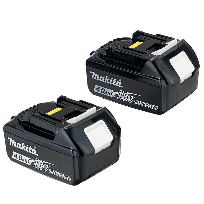 Batterie pour outil sans fil, 18V, lithium-ion, noir, 2/pqt
