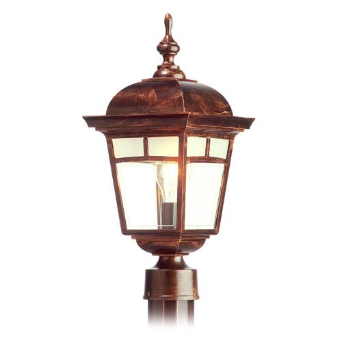 Lanterne sur poteau « Imagine », cuivre antique, 17 7/8''
